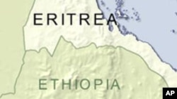 Map of Eritrea and Ethiopia