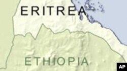 Map of Eritrea and Ethiopia