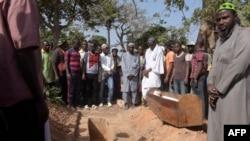 Photo prise lors des funérailles de l'une des victimes de l'attaque de la forêt de Bayotte, Casamance, Sénégal, le 7 janvier 2018