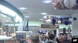 美國購物季節隨感恩節來臨展開﹐各大商店已經陸續公佈了促銷計劃。美國人今年的購物是否會受到低迷經濟的影響呢?(資料圖片)