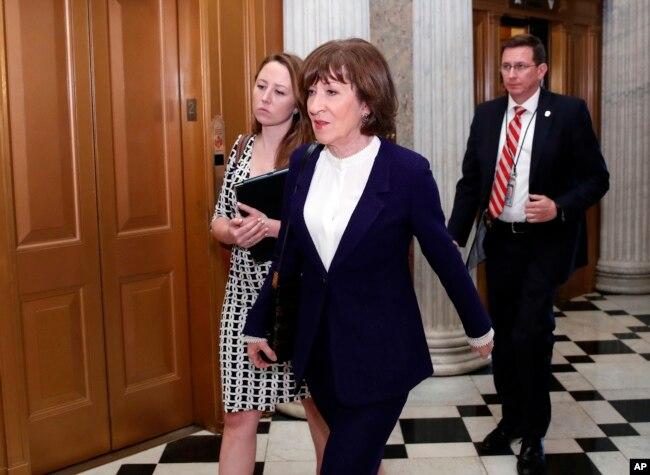 Senadora republicana por Maine, Susan Collins, emitió el voto decisivo para la confirmación de Brett Kavanaugh a la Corte Suprema de EE.UU.