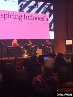 Menkeu Sri Mulyani dalam acara Laporan Bank Dunia: Aspiring Indonesia: Expanding the Middle Class, di Jakarta, Kamis (30/1) ( Ghita)