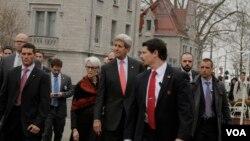 Джон Керрі у Лозанні, де проходили іранські ядерні переговори.