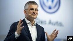 Michael Horn, président de Volkswagen en Amérique du Nord à New York le 21 septembre 2015