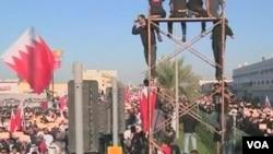 巴林抗議者星期五紀念反政府起義兩週年