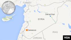 ແຜນທີ່ ປະເທດຊີເຣຍ ເຂດ Deir al-Zour