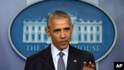 Predsednik Barak Obama na konferenciji za novinare u Beloj kuć