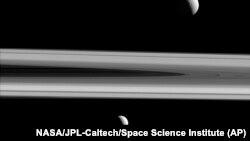 """Saturnovi meseci snimljeni sa """"Kasinija"""""""