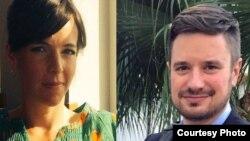 Les experts de l'ONU Zaida Catalan et Michael Sharp, disparus dans le Kasaï le 12 mars 2017 et retrouvés morts le 27 mars.