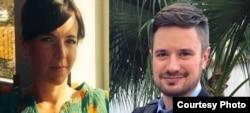 Les experts de l'ONU Zaida Catalan et Michael Sharp, disparus dans le Kasaï le 12 mars 2017 et retrouvé mort le 27 mars.