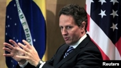 U.S. Secretary of the Treasury Timothy Geithner in Brazil, February 7th, 2011.
