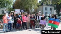 Siyasi mühacirlər Bonnda BMT-nin ofisi qarşısında aksiya keçirib