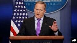 "Juru bicara Gedung Putih Sean Spicer mengatakan draft proposal Garda Nasional ""bukan dokumen Gedung Putih"" (foto: dok)."
