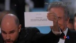 2017-02-27 美國之音視頻新聞: 第89屆奧斯卡獎最佳影片頒獎擺烏龍 (粵語)