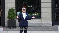 希拉里在纽约参加9/11纪念仪式