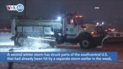 VOA60 Ameerikaa - A second winter storm has struck parts of the south central U.S.