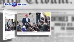 Donald Trump thu hồi thẻ tác nghiệp phóng viên báo The Washington Post (VOA60)