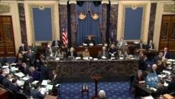 Менеджери імпічменту Палати представників та юристи президента представляють заключні аргументи своїх сторін. Відео