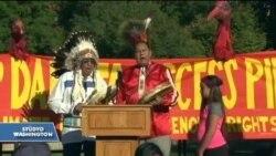Yerli Amerikalılar'ın Petrol Boru Hattı Protestosu Sürüyor