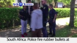 VOA60 Africa - South Africa: Police fire rubber bullets at student demonstrators protesting tuition hikes