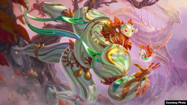 Tác phẩm Người bảo vệ đảo Vermillion của họa sĩ Anh Lê. Photo by Anh Lê