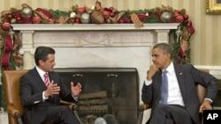 Barack Obama s'était déjà entretenu avec Enrique Pena Nieto à Washington en novembre 2012