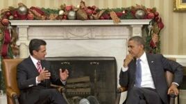 President Barack Obama and Mexico's President-elect Enrique Peña Nieto in the Oval Office of the White House in Washington, Nov. 27, 2012.