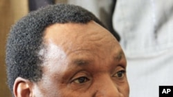 Kenya's former industrialisation minister Henry Kosgey appears at the High Court in Nairobi. A Kenyan government minister pleaded not guilty to a dozen counts of abuse of office hours after resigning to allow for an investigation into a scam involving imp