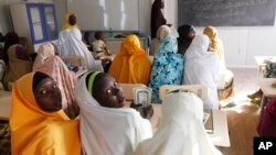 Some IDPS children attending the school