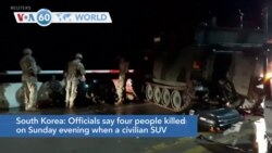 VOA60 Addunyaa - Four people were killed in South Korea when a civilian SUV collided with a U.S. military vehicle
