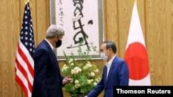 U.S. climate envoy Kerry visits Tokyo for talks with Suga, Aug. 31, 2021.