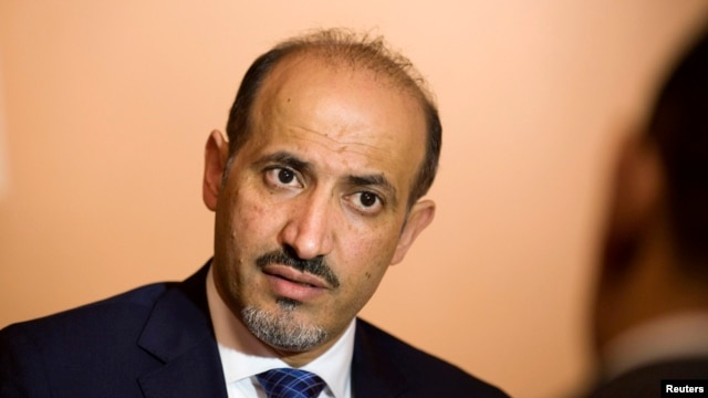Ahmed Jarba, head of the Syrian National Coalition, at Bayan Palace, Kuwait, Dec. 8, 2013.