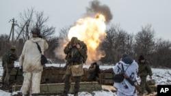 2015年2月11日俄罗斯支持的分离主义分子炮击乌克兰部队