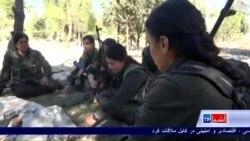 تمرین نظامی زنان کرد برای مبارزه با داعش