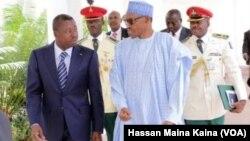 Shugaban Togo Gnassingbe Eyadema da Shugaba Buhari na Najeriya