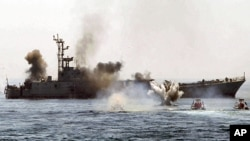 Barco de guerra iraniano
