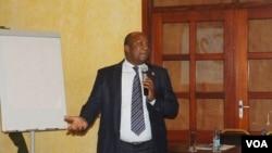 Paul Franck Indjendjet Gondjout in Yaounde, November 14 2014. (Moki Edwin Kindzeka for VOA)