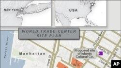Maquette du centre islamique devant abriter la mosquée à New York