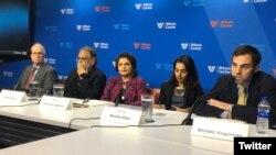 واشنگٹن کے تھنک ٹینک ولسن سینٹر میں پاکستان میں میڈیا پر سینسر شپ کی صورت حال پر مجلس مذاکرہ۔ 12 ستمبر 2018