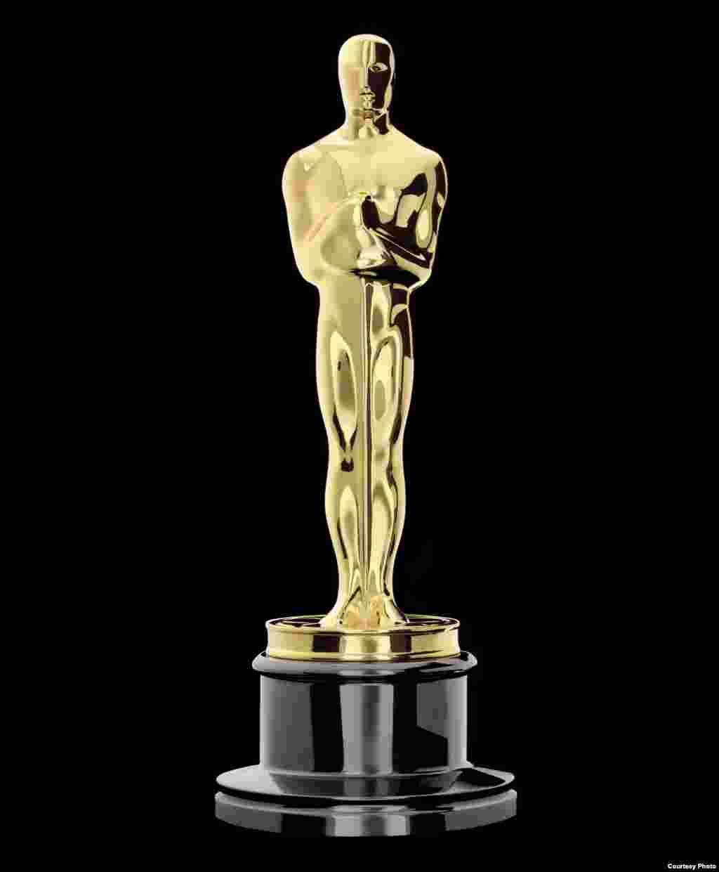 """Washindi wa """"Academy Awards,"""" inayofahamika zaidi kwa jina la """"The Oscars,"""" watapokea tuzo hii ya sanamu ndogo katika sherehe zitakazo fanyika mwezi Machi mjini Los Angeles, California. (Oscars.org)"""