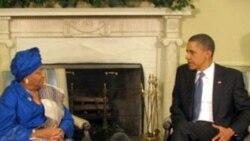 پرزيدنت اوباما با رئيس جمهوری لیبریا در کاخ سفيد ملاقات کرد