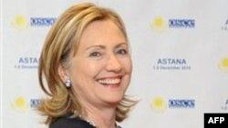 Госсекретарь Хиллари Клинтон. Астана. Казахстан. 1 декабря 2010 года