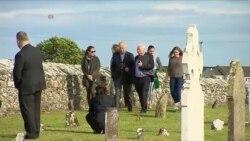 Джозеф Байден відвідав цвинтар, де поховані його пращури. Відео