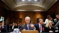 2017年6月13日,美國國務卿蒂勒森在國會山參加聽證會