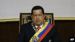 Venezuela's President Hugo Chavez attends a special session at the National Assembly commemorating the country's Independence Day, in Caracas, Venezuela, July 5, 2012.