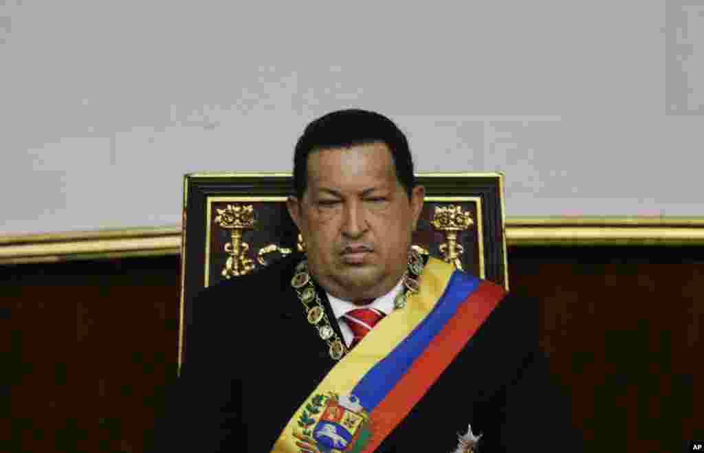 Chavez attends a special session at the National Assembly commemorating the country's Independence Day, in Caracas, Venezuela, July 5, 2012.