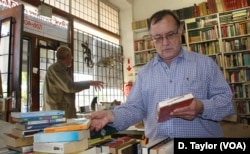 "Second hand book dealer Doron Locketz sometimes makes ""big money"" selling rare used books."