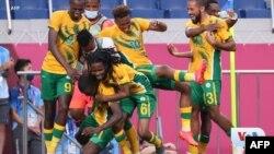'Yan wasan Afirka ta Kudu suna murar aura kwallo a wasannin Olympics