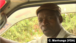 Stanford Chigwedere, a public transport driver in Harare says he is against the idea of new traffic fines because casualties on Zimbabwe's roads are not caused by bad driving alone. (Columbus Mavhunga/VOA)