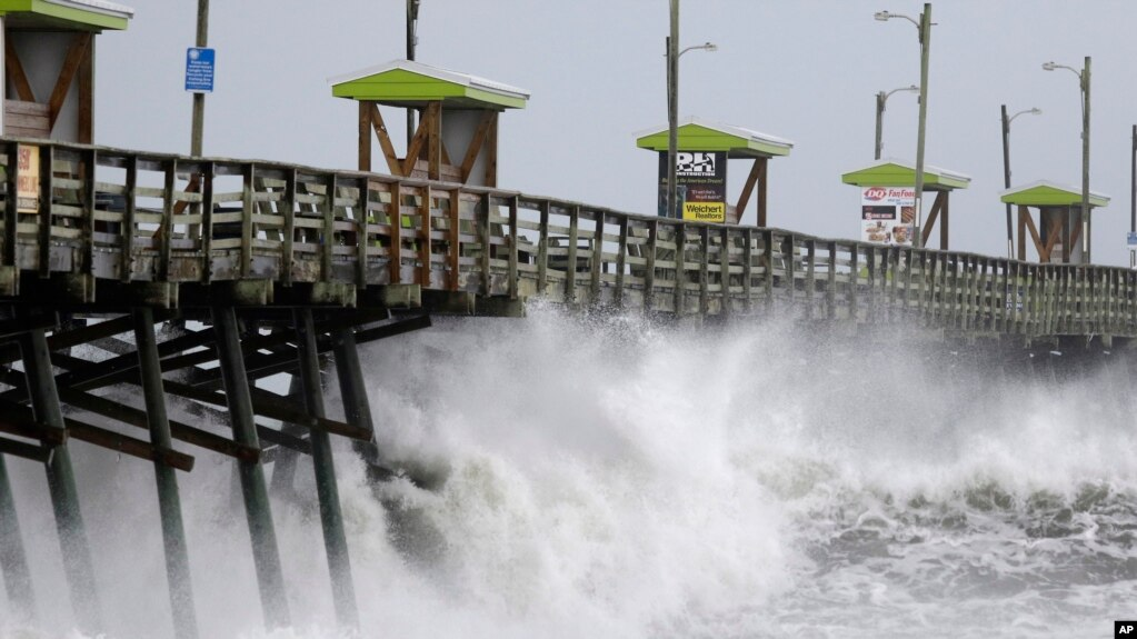 Image result for Hurricane Florence: Life-threatening storm starts to lash Carolinas